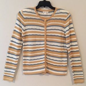 EUC Christopher & Banks Striped Cardigan SzSM